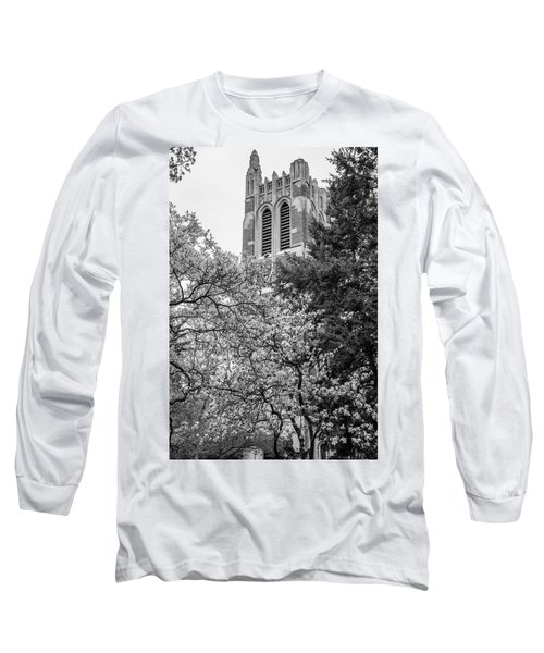 Msu Beaumont Tower Black And White 3 Long Sleeve T-Shirt