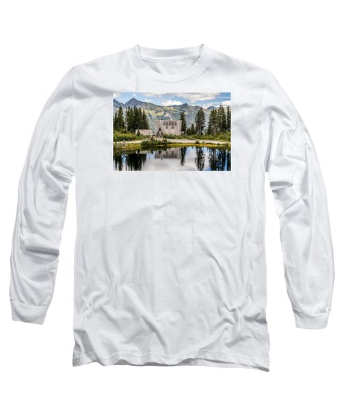 Long Sleeve T-Shirt featuring the photograph Mt Baker Lodge In Picture Lake 1 by Rob Green