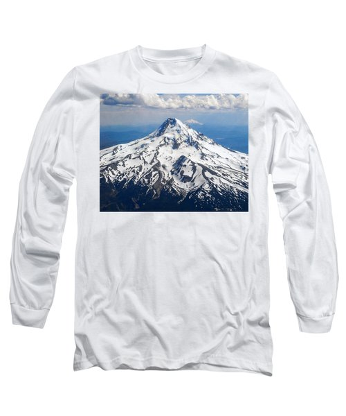 Mt. Hood From 10,000 Feet Long Sleeve T-Shirt