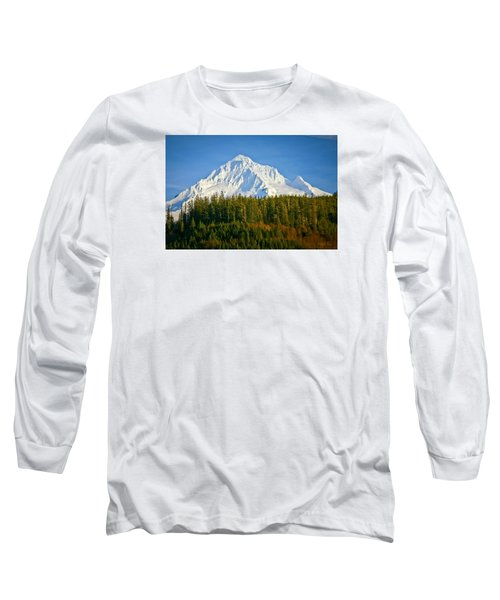 Mt Hood In Winter Long Sleeve T-Shirt