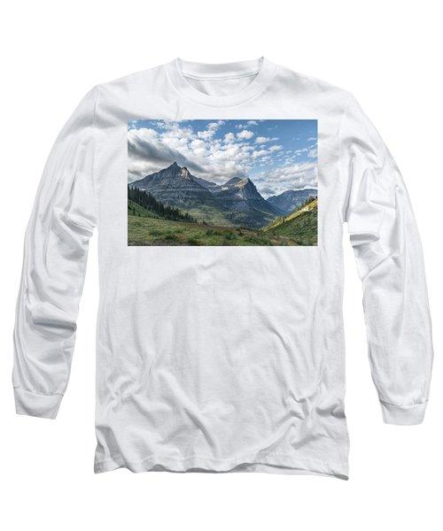 Mt. Oberlin From Logan Pass Long Sleeve T-Shirt