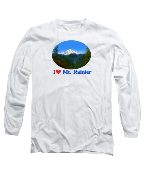 Mt Rainier Long Sleeve T-Shirt