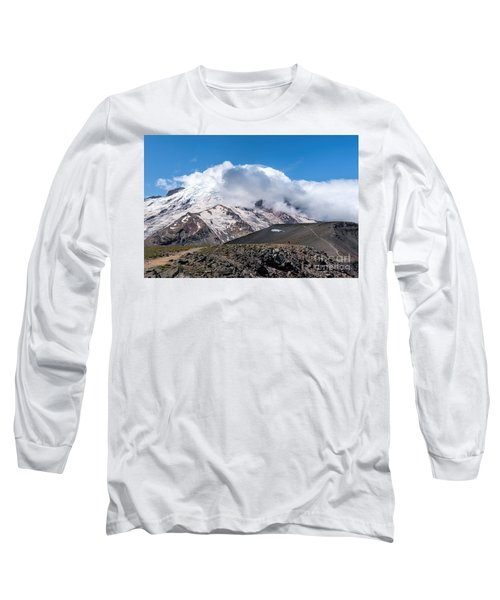 Mt Rainier In The Clouds Long Sleeve T-Shirt
