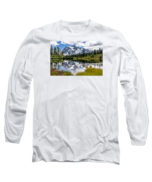 Long Sleeve T-Shirt featuring the photograph Mt Shuksan On Picture Lake 1 by Rob Green