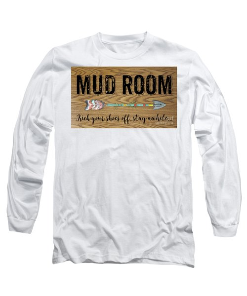 Long Sleeve T-Shirt featuring the digital art Mud Room-a by Jean Plout
