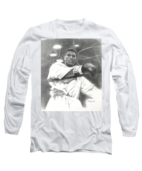Young Cassius Clay Long Sleeve T-Shirt by Noe Peralez