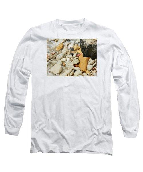 multi colored Beach rocks Long Sleeve T-Shirt by Expressionistart studio Priscilla Batzell