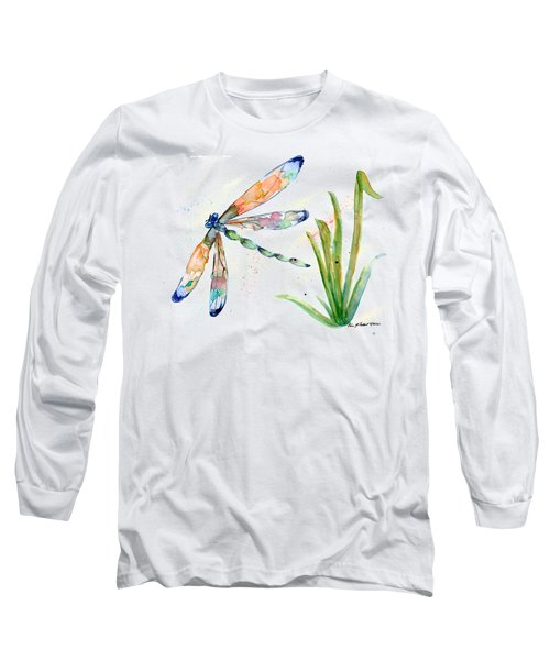 Multi-colored Dragonfly Long Sleeve T-Shirt