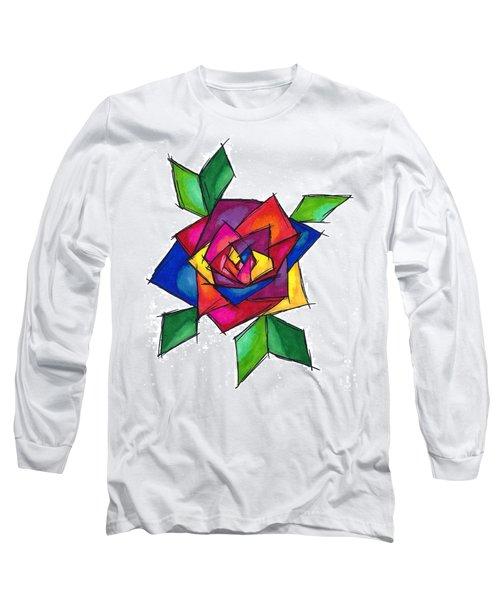 Multi Rose Long Sleeve T-Shirt