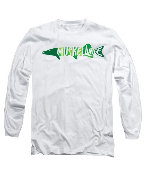 Multicolored Muskellunge Long Sleeve T-Shirt