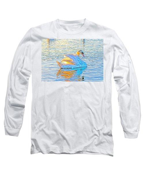 Multicolour Swan Long Sleeve T-Shirt