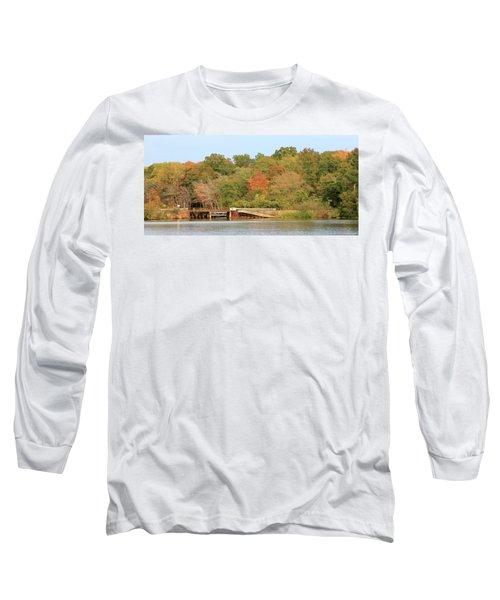 Long Sleeve T-Shirt featuring the photograph Murphy Mill Dam/bridge by Jerry Battle