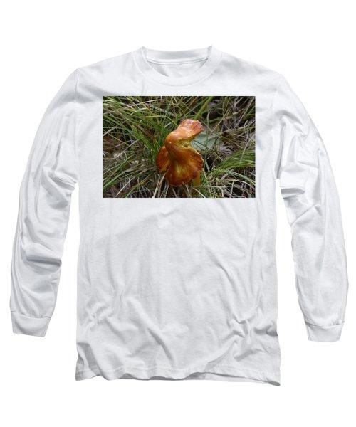 Long Sleeve T-Shirt featuring the photograph Mushroom In Grass by Paul Freidlund