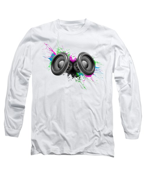 Music Speakers Colorful Design Long Sleeve T-Shirt