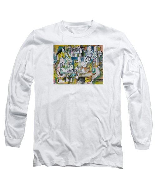 Musical Abstraction  Long Sleeve T-Shirt by Rita Fetisov