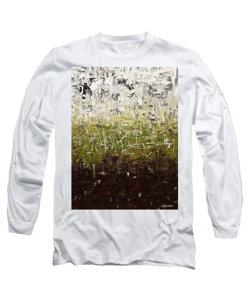 Long Sleeve T-Shirt featuring the painting Musing by Carmen Guedez