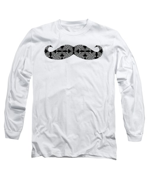 Mustache Tee Long Sleeve T-Shirt by Edward Fielding
