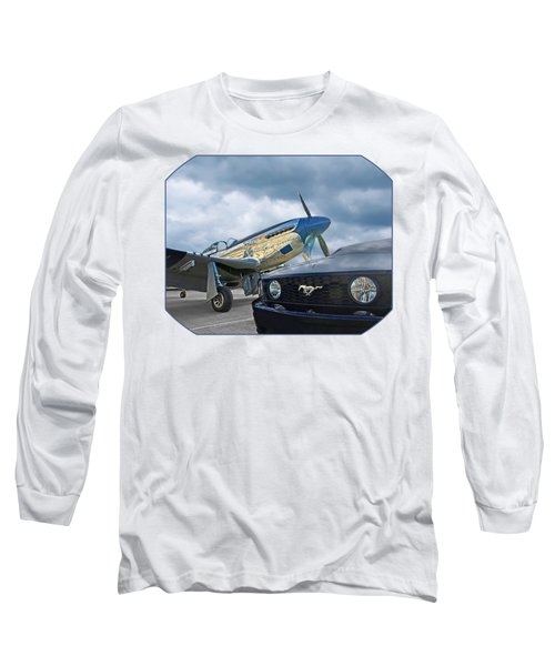 Mustang Gt With P51 Long Sleeve T-Shirt