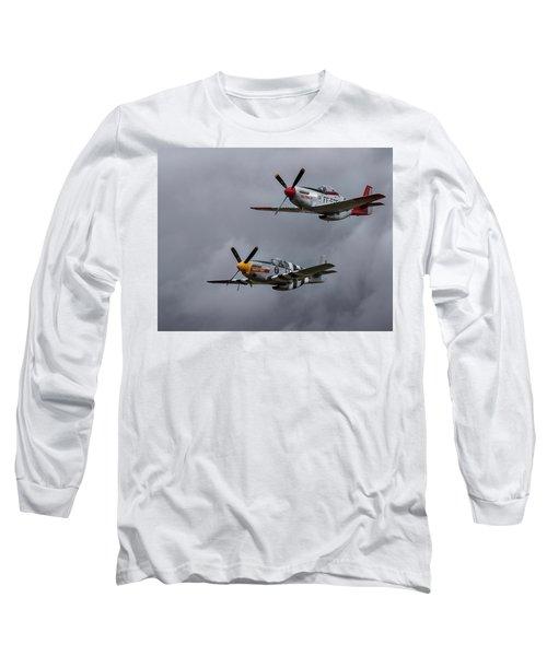 Long Sleeve T-Shirt featuring the photograph Mustangs by Elvira Butler