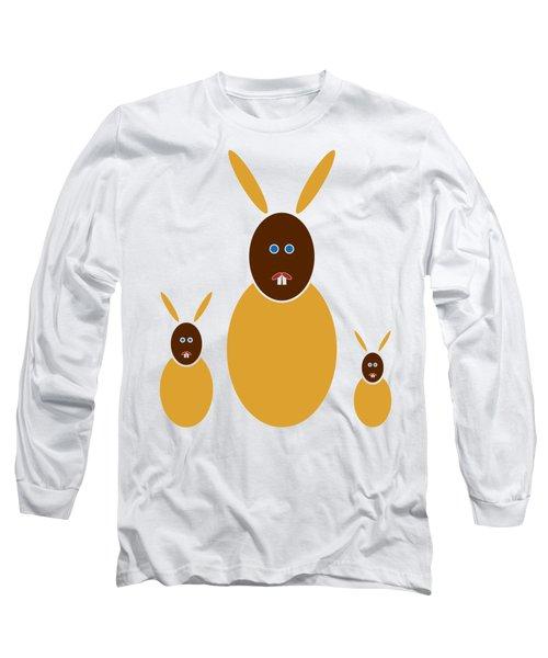 Mustard Bunnies Long Sleeve T-Shirt