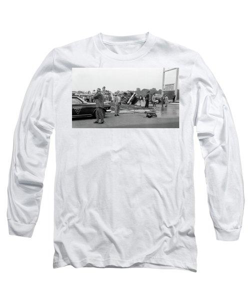 Mva At Shopping Center Long Sleeve T-Shirt by Paul Seymour