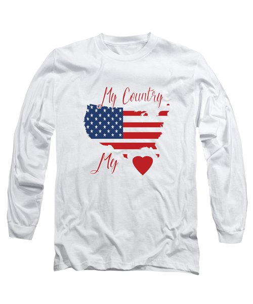 My Country My Heart Long Sleeve T-Shirt