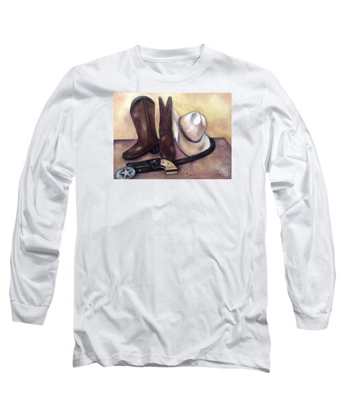 Long Sleeve T-Shirt featuring the painting My Cowboy's Home by Annamarie Sidella-Felts