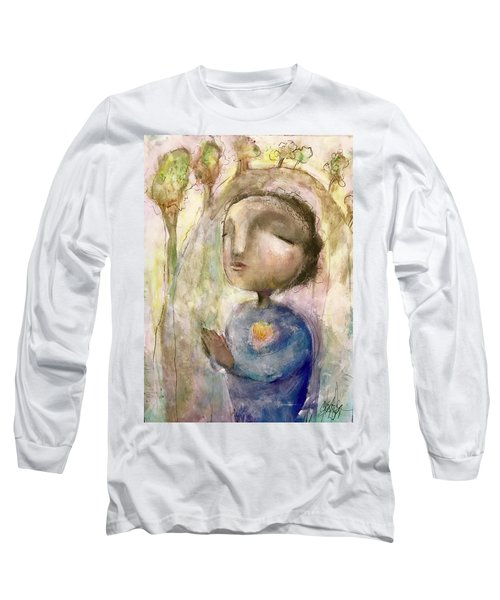 Long Sleeve T-Shirt featuring the mixed media My Faith by Eleatta Diver