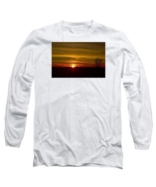 My First 2016 Sunset Photo Long Sleeve T-Shirt by Dacia Doroff