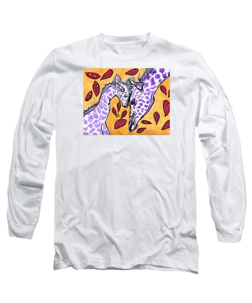 Long Sleeve T-Shirt featuring the painting My Heart Belongs To You by Connie Valasco