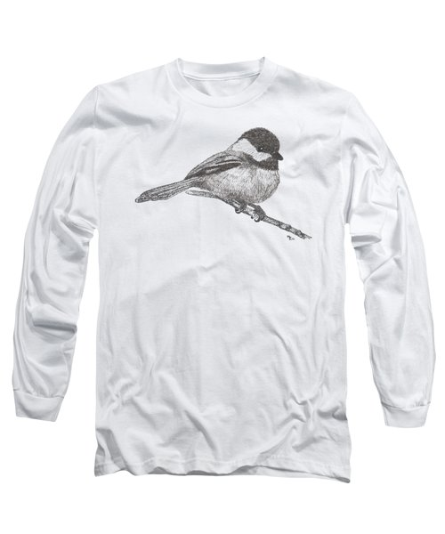 My Little Chickadee-dee-dee Long Sleeve T-Shirt by Mary-Ellen Arsenault