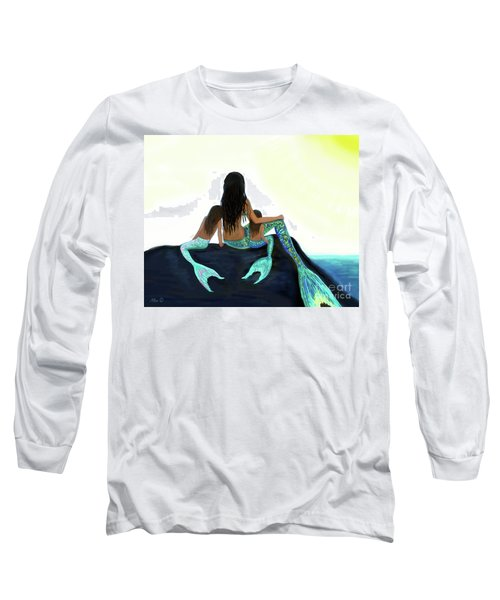 Long Sleeve T-Shirt featuring the painting My Sunshine Girls by Leslie Allen
