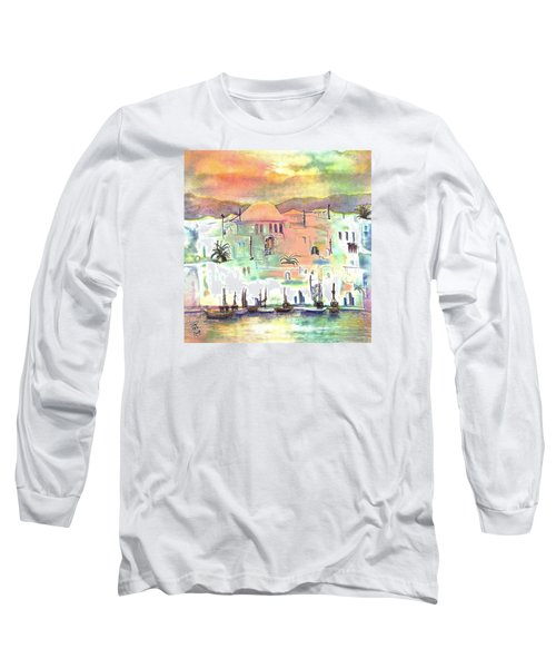 Sunset Over Mykonos Greece Long Sleeve T-Shirt