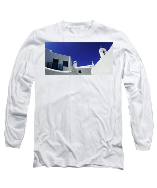 Long Sleeve T-Shirt featuring the photograph Mykonos Greece Clean Line Architecture by Bob Christopher