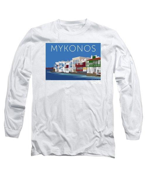 Mykonos Little Venice - Blue Long Sleeve T-Shirt