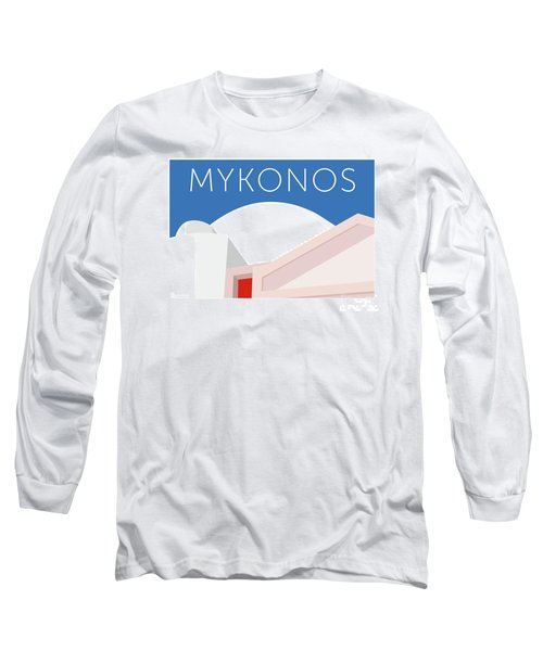 Mykonos Walls - Blue Long Sleeve T-Shirt