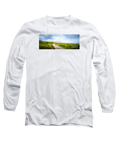 Myrtle Beach State Park Boardwalk Long Sleeve T-Shirt by David Smith