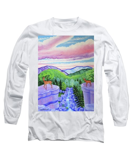 Mystic Mountain Long Sleeve T-Shirt by Tracy Dennison