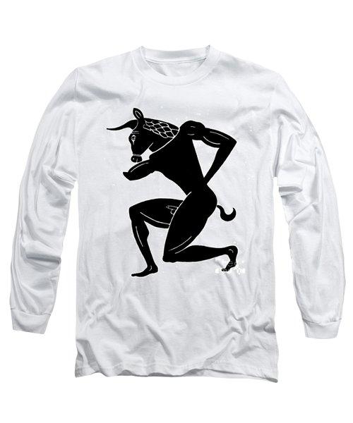 Mythology: Minotaur Long Sleeve T-Shirt by Granger
