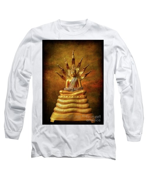 Long Sleeve T-Shirt featuring the photograph Naga Buddha by Adrian Evans
