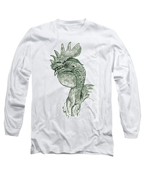 Naked Neck Rooster Long Sleeve T-Shirt