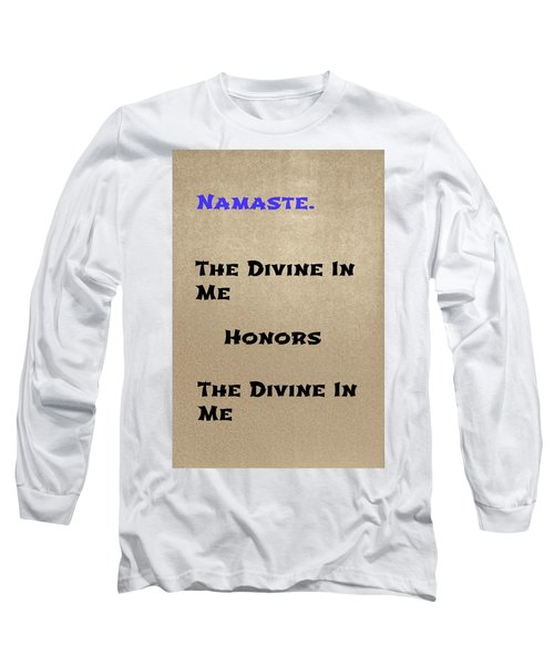 Namaste #3 Long Sleeve T-Shirt