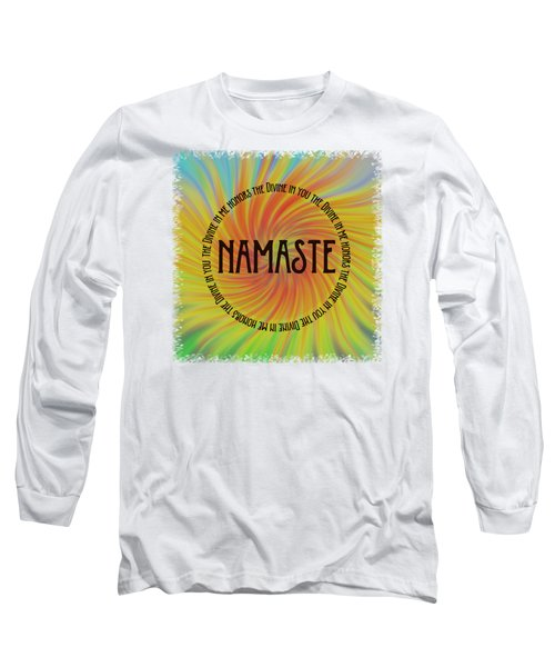 Namaste Divine And Honor Swirl Long Sleeve T-Shirt by Terry DeLuco