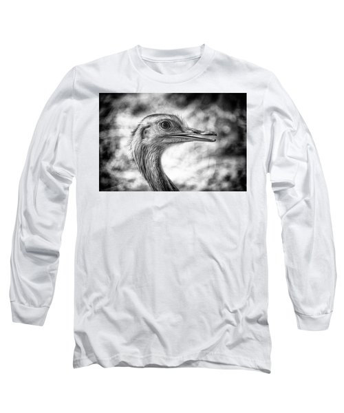 Long Sleeve T-Shirt featuring the photograph Nandu by Traven Milovich