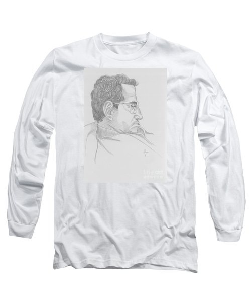 Long Sleeve T-Shirt featuring the drawing Nap by Annemeet Hasidi- van der Leij