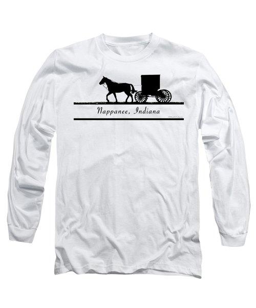 Nappanee Horse And Buggy Long Sleeve T-Shirt