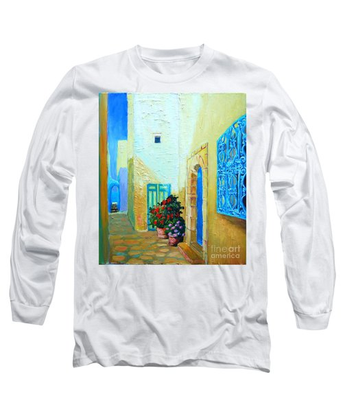 Narrow Street In Hammamet Long Sleeve T-Shirt by Ana Maria Edulescu