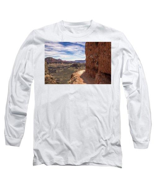 Narrow Trail On The South Kaibab Trail, Grand Canyon Long Sleeve T-Shirt