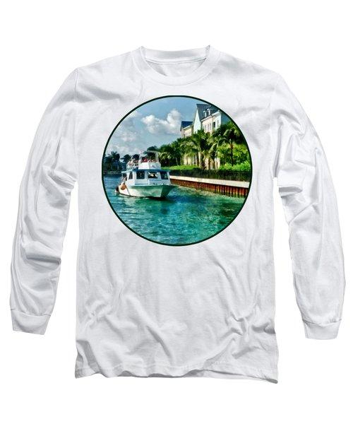 Bahamas - Ferry To Paradise Island Long Sleeve T-Shirt