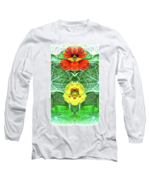 Nasturtium Mirror Image Pareidolia Long Sleeve T-Shirt